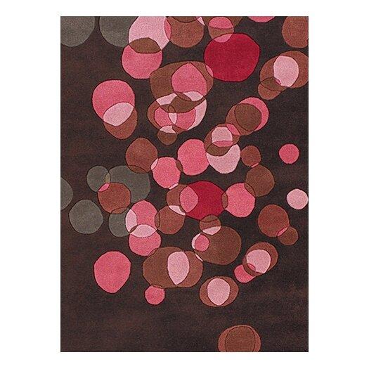 Chandra Rugs Avalisa Brown/Pink Area Rug