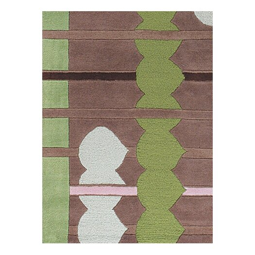Chandra Rugs Avalisa Brown/Green Area Rug