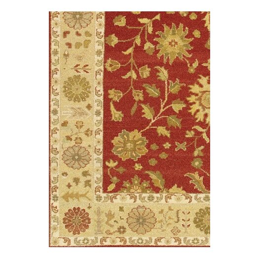 Chandra Rugs Carona Red / Tan Area Rug