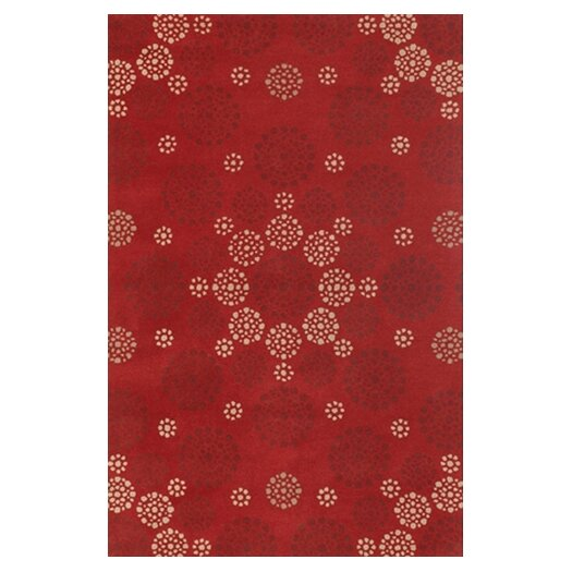 Chandra Rugs Condit Red Area Rug