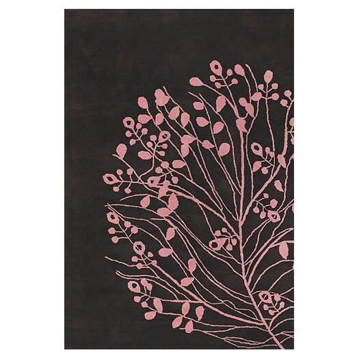 Chandra Rugs Dharma Brown/Pink Area Rug