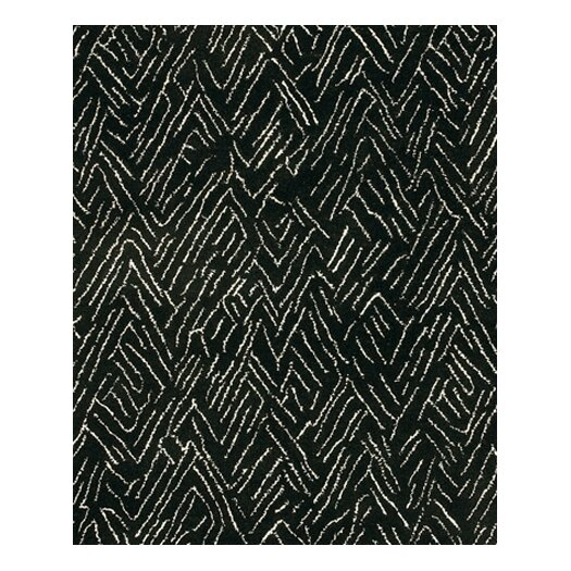 Chandra Rugs Rain Black Area Rug