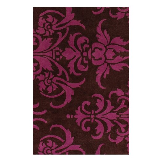 Chandra Rugs Venitian Black/Pink Area Rug