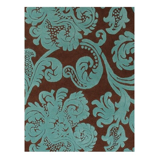 Chandra Rugs Venitian Brown/Blue Area Rug