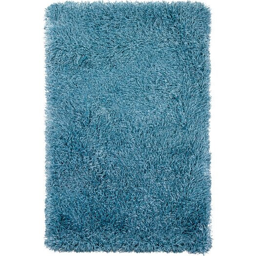 Chandra Rugs Duke Blue Solid Area Rug
