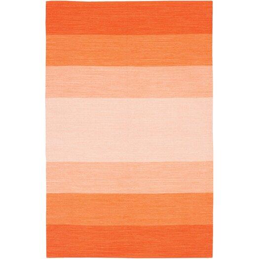 Chandra Rugs India Orange Striped Area Rug