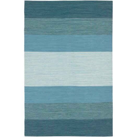 Chandra Rugs India Blue Striped Area Rug