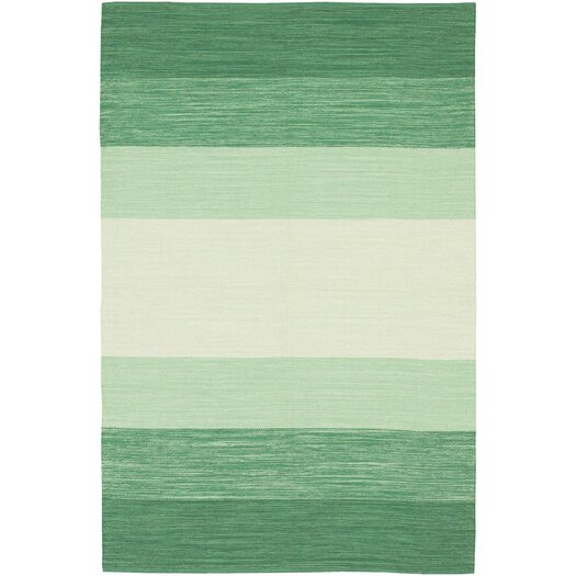 Chandra Rugs India Green Striped Area Rug