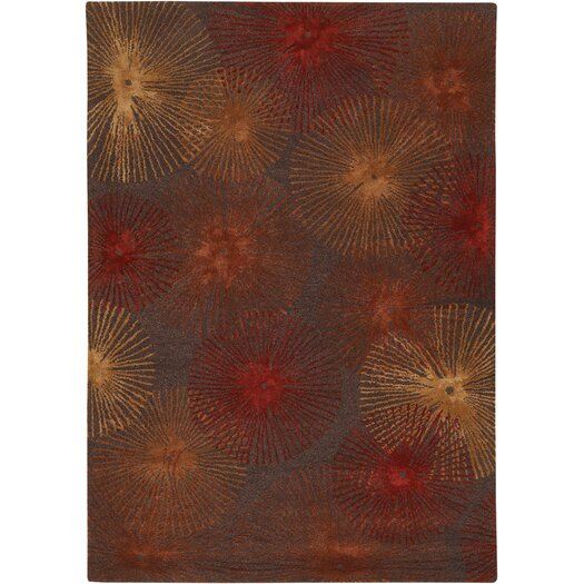 Chandra Rugs Revello Brown/Red Area Rug