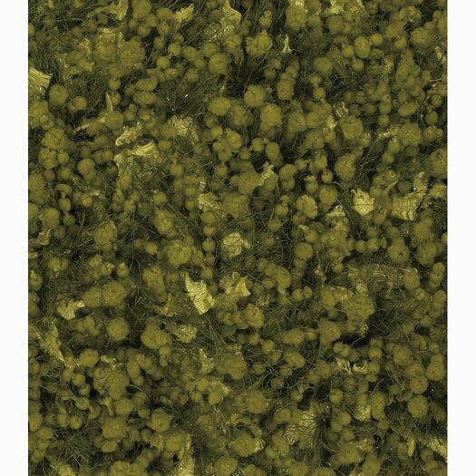 Chandra Rugs Riza Green Solid Area Rug