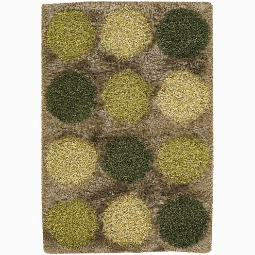 Chandra Rugs Rocco Brown/Green Area Rug