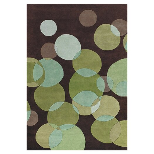 Chandra Rugs Avalisa Green/Brown Area Rug