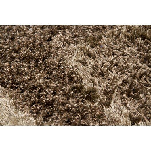 Chandra Rugs Areva Shag Brown Area Rug