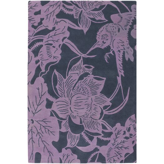 Chandra Rugs Counterfeit Contemporary Designer Violet Area Rug