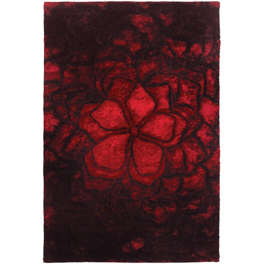 Chandra Rugs Flemish Shag Red Area Rug
