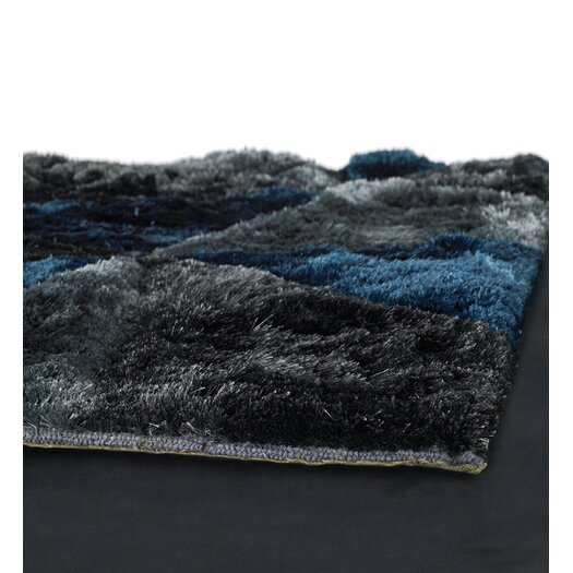 Chandra Rugs Flemish Shag Dark Grey Area Rug