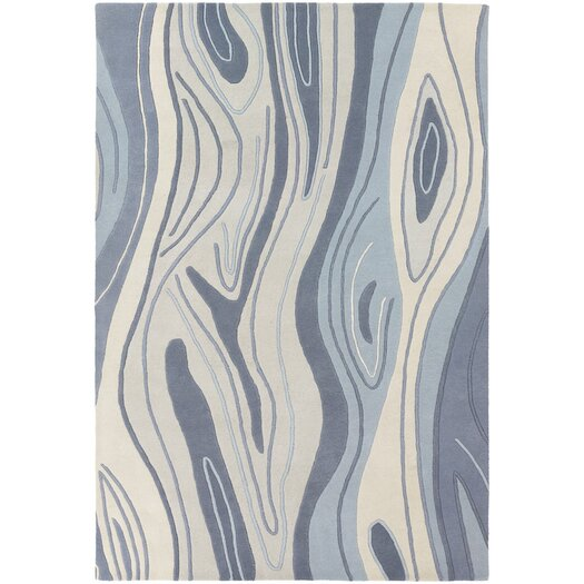 Chandra Rugs Inhabit Designer Blue Area Rug