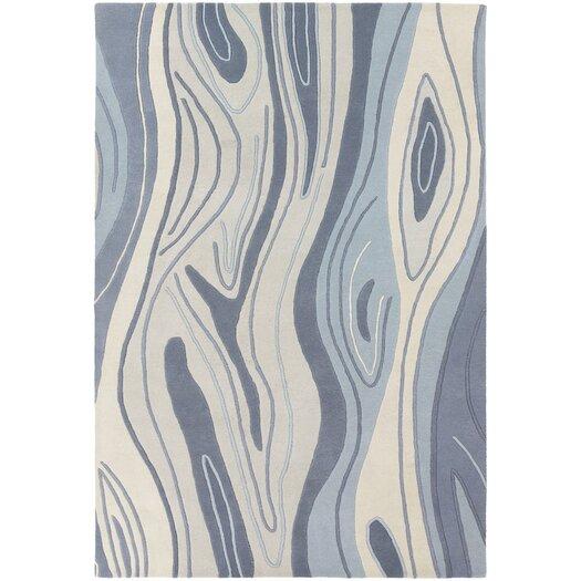Chandra Rugs Inhabit Designer Blue Area Rug
