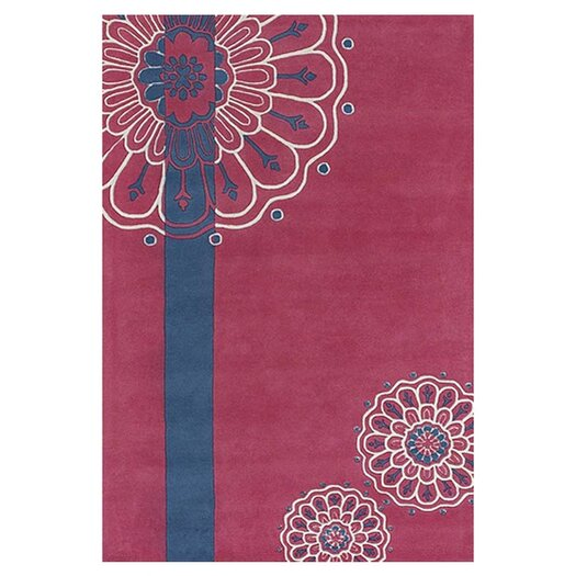 Chandra Rugs Dharma Pink/Blue Area Rug