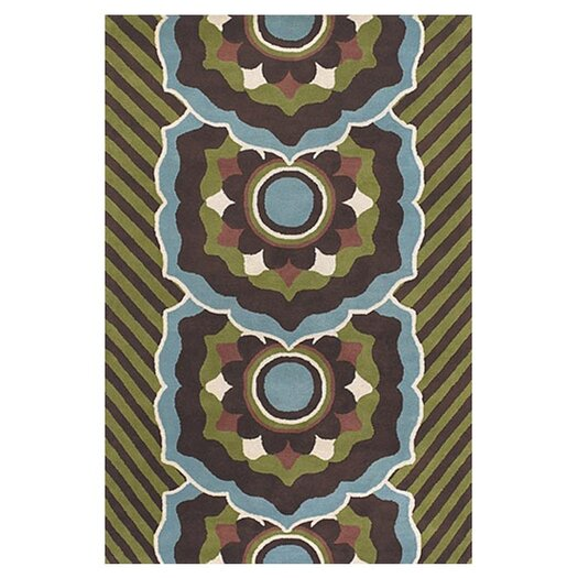 Chandra Rugs Dharma Green/Blue Area Rug