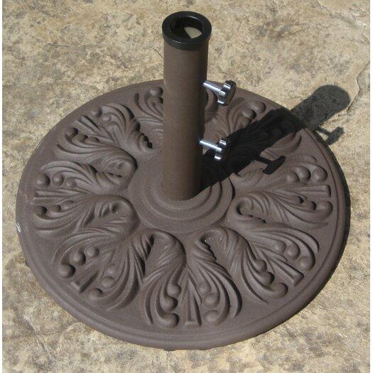 Galtech International 40 Pound European Design Cast Iron Umbrella Base