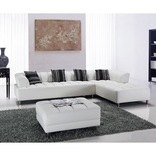Hokku Designs Litz Leather Sectional