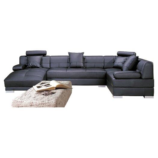 Hokku Designs Galveston Leather Sectional
