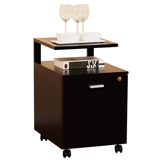 Hokku Designs 1-Drawer Modern Equipment Trolley/File Cabinet