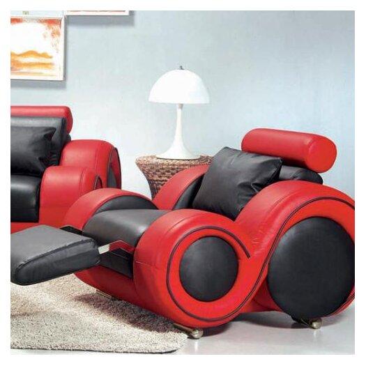 Hokku Designs Hematite Leather Chair