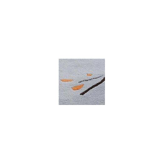 Hokku Designs Inari Grey/Orange Area Rug