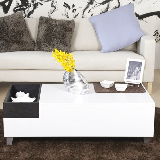 Hokku Designs Jordan Coffee Table in White