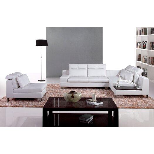 Hokku Designs Leather Sectional Set