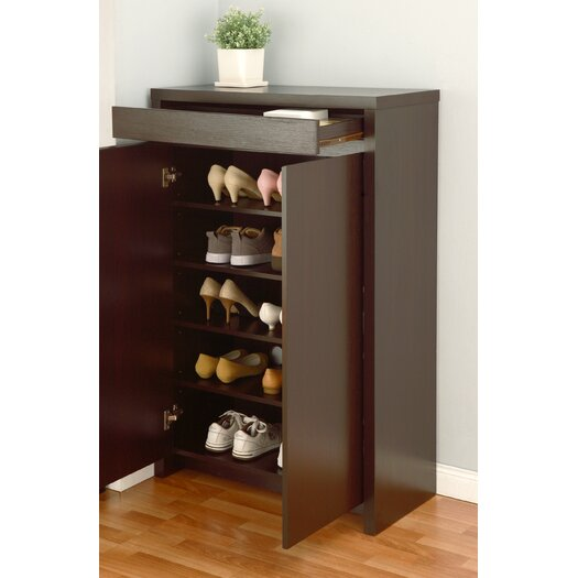 Hokku Designs Hess Studio 5 Shelf Shoe Cabinet
