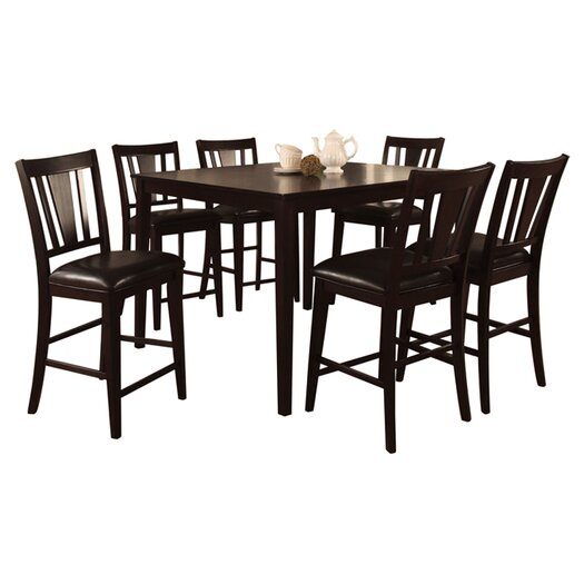 Hokku Designs Bridgette 7 Piece Counter Height Dining Set