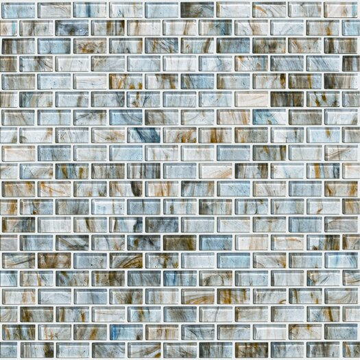 Shaw Floors Glass Expressions Micro Blocks Accent Tile in Seaglass