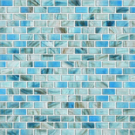 Shaw Floors Glass Expressions Frosted Micro Blocks Accent Tile in Azure