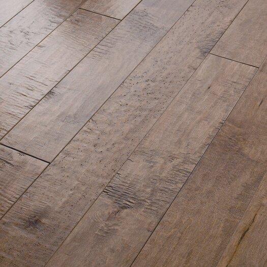 "Shaw Floors Autumn Ridge 5"" Engineered Handscraped Maple Flooring in Oat Straw"