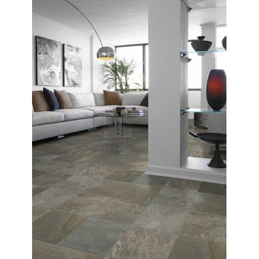 "Shaw Floors Metropolitan Slate 18"" x 18"" Floor Tile in Luna Park"