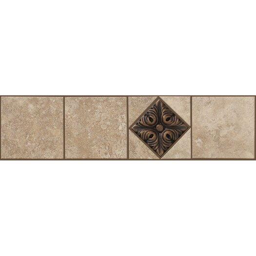 "Shaw Floors Soho Listello 12"" x 3"" Tile Accent in Gascogne Beige / Bronze"