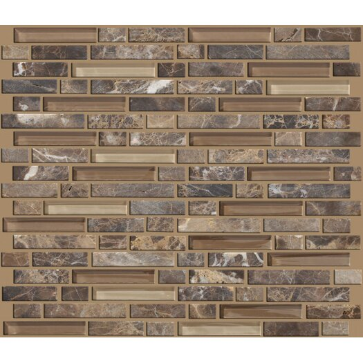 Shaw Floors Mixed Up Random Sized Linear Mosaic Marble Accent Tile in Dakota