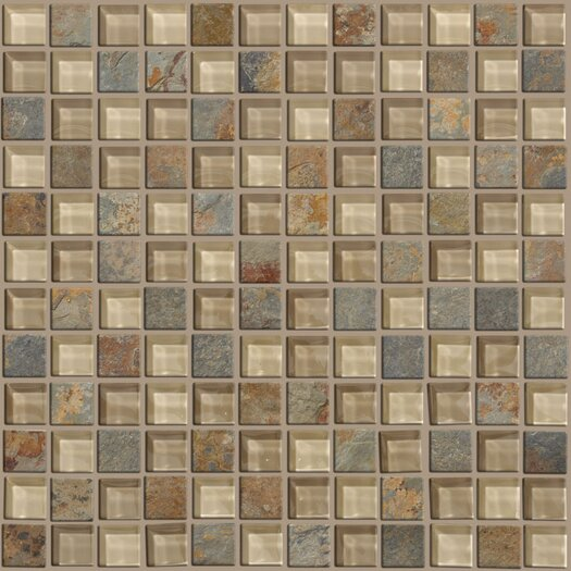 Shaw Floors Mixed Up Mosaic Slate Accent Tile in Denali