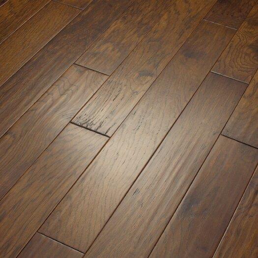 "Shaw Floors Camden Hills 5"" Elegant Scraped Engineered Hickory Flooring in Western Sky"