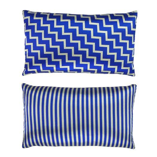 NECTARmodern Stairs and Stripes Geometric Chevron Throw Pillow