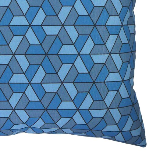 NECTARmodern Triangles Modern Graphic Throw Pillow