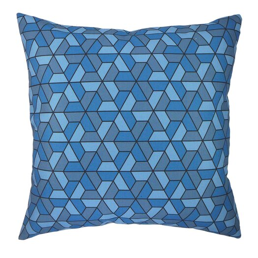 Modern Graphic Pillow : Blue Square Accent Pillow AllModern