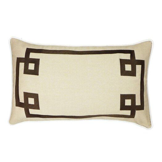 Deco Frame Embroidered Throw Pillow