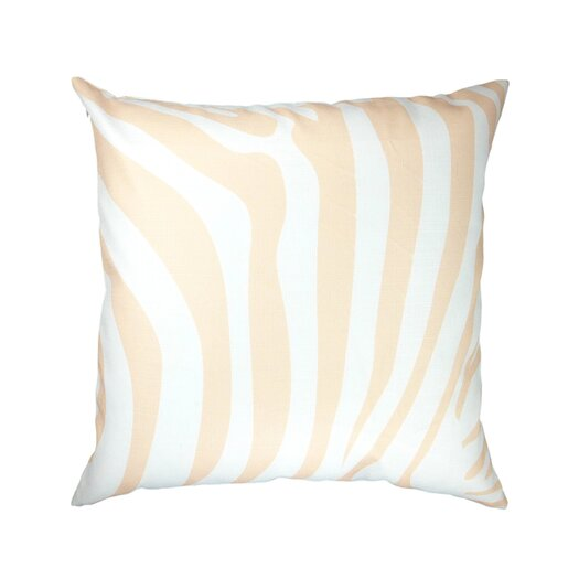 Animal Print Zebra / Leopard Peach Throw Pillow