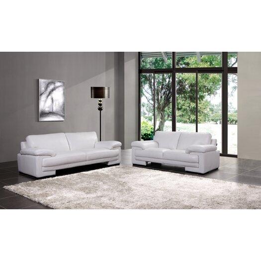 Creative Furniture Marlene Leather Loveseat