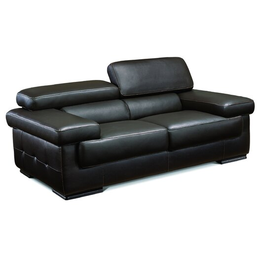 Savoy Leather Loveseat