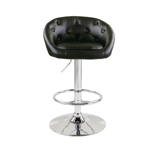 Milan Adjustable Height Swivel Bar Stool with Cushion